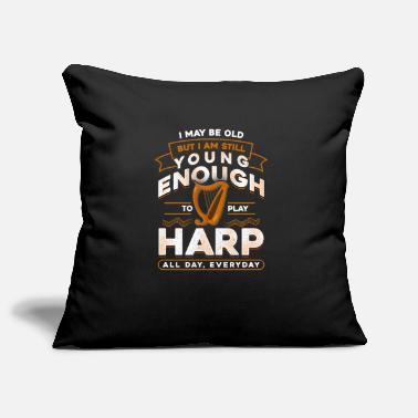 Harp harp - Pillowcase 17,3'' x 17,3'' (45 x 45 cm)