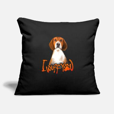 I WUFF YOU Foxhound Shirt Love Dog Quotes Design - Kuddfodral