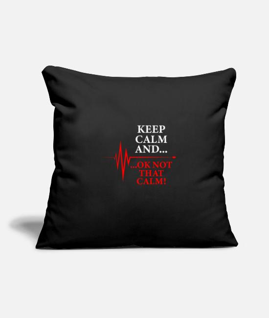 Calm Pillow Cases - Keep calm and ... okay not that calm wild and cool - Pillowcase 17,3'' x 17,3'' (45 x 45 cm) black