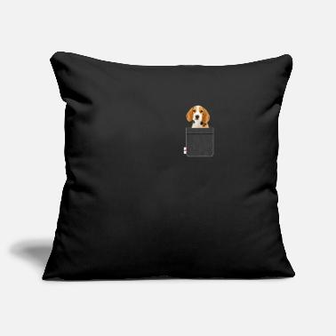 Beagle Beagle in pocket funny dog lover - Pillowcase 17,3'' x 17,3'' (45 x 45 cm)