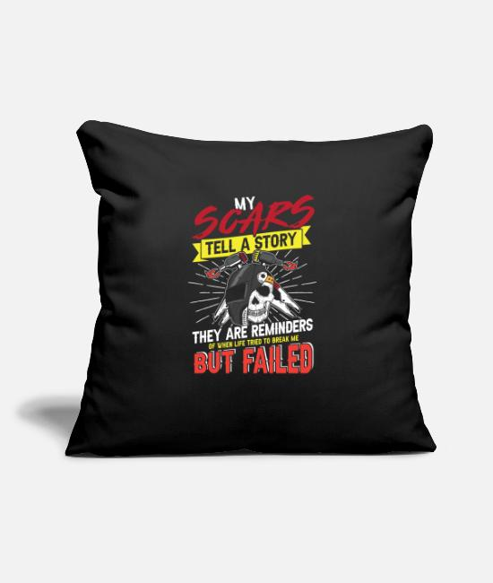 Melt Pillow Cases - My scars tell a story Welder - Pillowcase 17,3'' x 17,3'' (45 x 45 cm) black