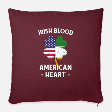 Carne Di Manzo Irish Blood American Heart St Patrick's Day - Copricuscino