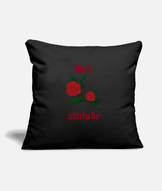 Darkness Pillow Cases - Bad attitude heart rose gothic culture gift idea - Pillowcase 17,3'' x 17,3'' (45 x 45 cm) black