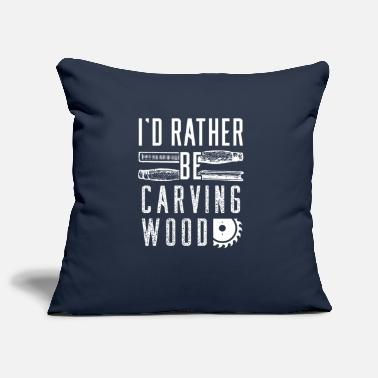 Carve Wood carving wood carving - Pillowcase 17,3'' x 17,3'' (45 x 45 cm)