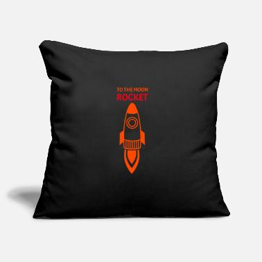 Conflict Rocket To The Moon Spaceship Red Orange - Pillowcase 17,3'' x 17,3'' (45 x 45 cm)