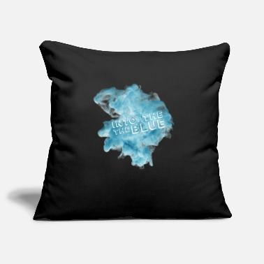 Blue Into the blue - into the blue - blue smoke - Pillowcase 17,3'' x 17,3'' (45 x 45 cm)