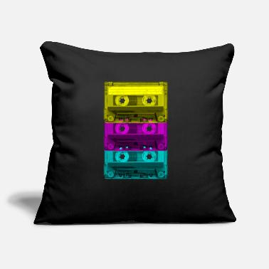 Tape Cassette Tape Mixtape Retro Music 80s and 90s Cost - Pillowcase 17,3'' x 17,3'' (45 x 45 cm)