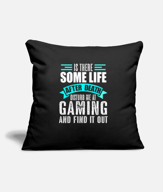 Gamepad Pillow Cases - Gamble Afterlife Gamer Daddling - Pillowcase 17,3'' x 17,3'' (45 x 45 cm) black