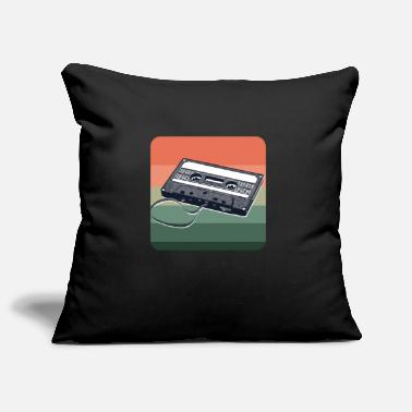 60s Retro vintage tape gift - Pillowcase 17,3'' x 17,3'' (45 x 45 cm)