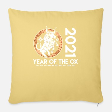Spring 2021 Year Of The OX - Happy New Year - Pillowcase 17,3'' x 17,3'' (45 x 45 cm)
