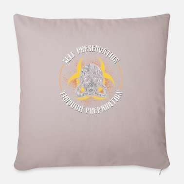 End Of World self preservation through preparation prepper gift - Pillowcase 17,3'' x 17,3'' (45 x 45 cm)