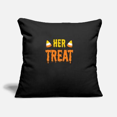 Couples Halloween Her Treat Funny Matching Couple Part 2 - Pillowcase 17,3'' x 17,3'' (45 x 45 cm)