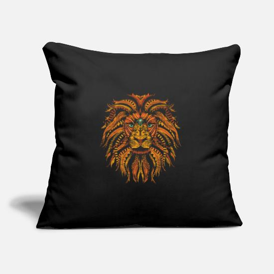 Gift Idea Pillow Cases - Lion mane - Pillowcase 17,3'' x 17,3'' (45 x 45 cm) black