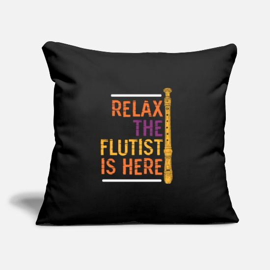 Gift Idea Pillow Cases - Flute concert - Pillowcase 17,3'' x 17,3'' (45 x 45 cm) black