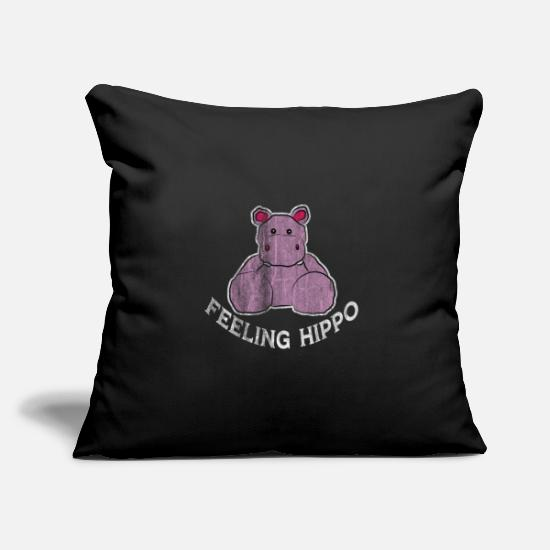 Animal Rights Activists Pillow Cases - hippo - Pillowcase 17,3'' x 17,3'' (45 x 45 cm) black
