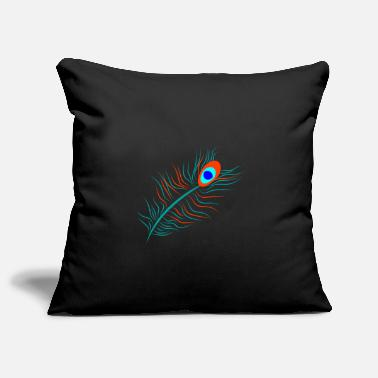 Plumage Peacock plumage - Pillowcase 17,3'' x 17,3'' (45 x 45 cm)