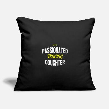 Distressed - PASSIONATED FENCING DAUGHTER - Pillowcase 17,3'' x 17,3'' (45 x 45 cm)