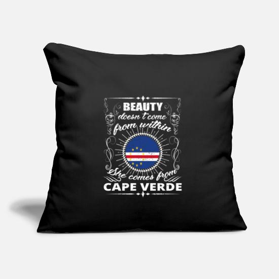 Birthday Pillow Cases - beauty comes from CAPE VERDE png - Pillowcase 17,3'' x 17,3'' (45 x 45 cm) black