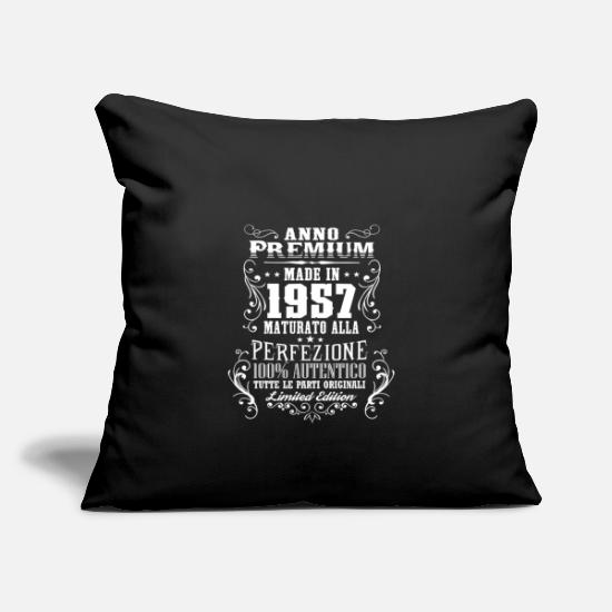 Birthday Pillow Cases - 1957 61 Anno Premium Compleanno Regalo IT - Pillowcase 17,3'' x 17,3'' (45 x 45 cm) black
