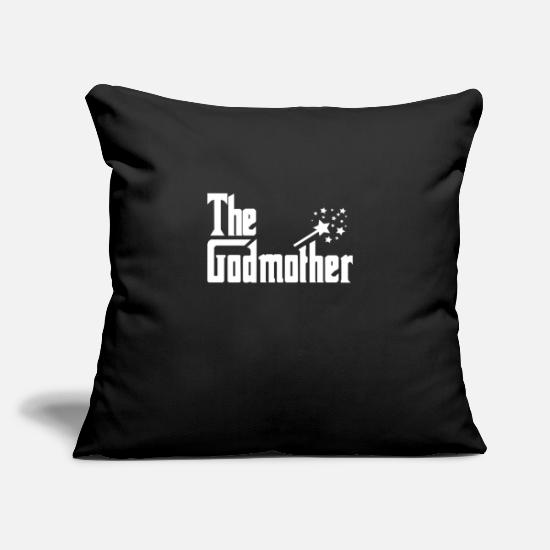 Birthday Pillow Cases - Godmother Magic Wand Gift - Pillowcase 17,3'' x 17,3'' (45 x 45 cm) black