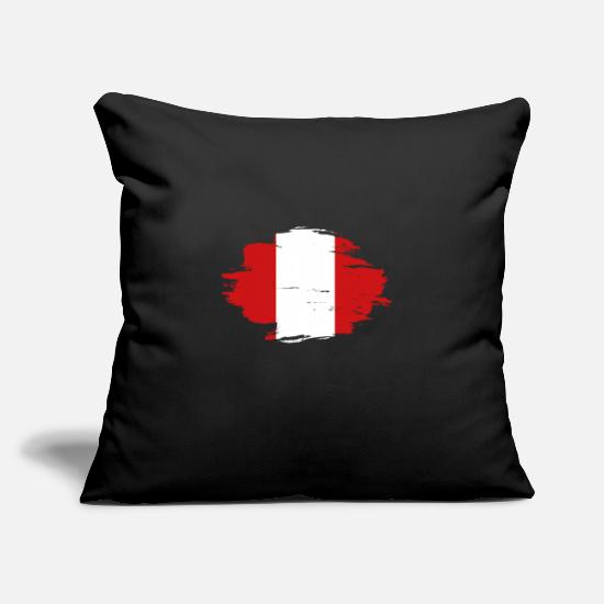 Love Pillow Cases - habitat flag love origin Peru png - Pillowcase 17,3'' x 17,3'' (45 x 45 cm) black