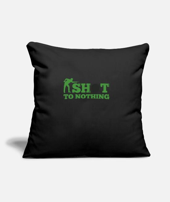 Cue Pillow Cases - Snooker shot to nothing - Pillowcase 17,3'' x 17,3'' (45 x 45 cm) black