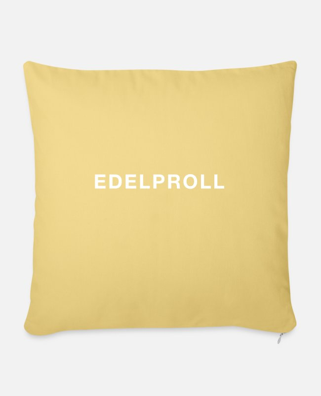Father's Day Pillow Cases - Edelproll white - Pillowcase 17,3'' x 17,3'' (45 x 45 cm) washed yellow