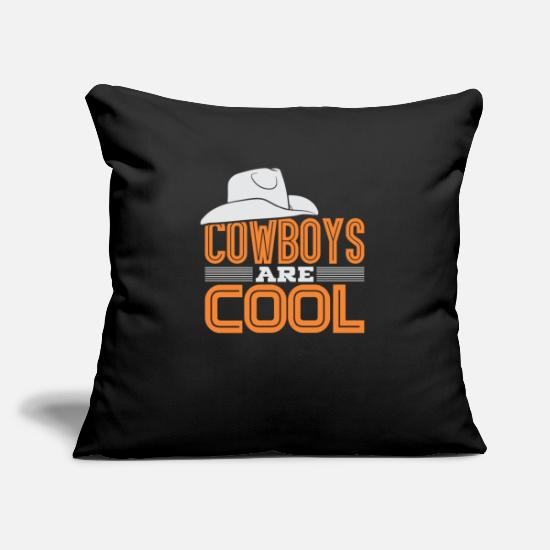 Gift Idea Pillow Cases - COWBOY - Pillowcase 17,3'' x 17,3'' (45 x 45 cm) black