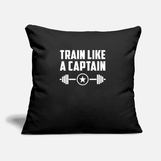 Funny Gym Pillow Cases - Train like a funny gym - Pillowcase 17,3'' x 17,3'' (45 x 45 cm) black