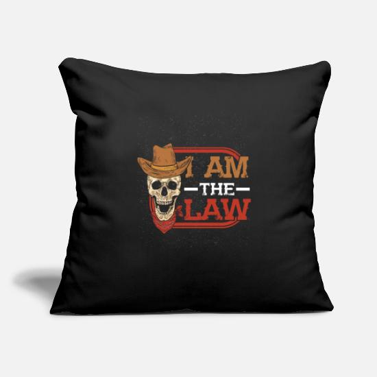 Country Pillow Cases - cowboy - Pillowcase 17,3'' x 17,3'' (45 x 45 cm) black