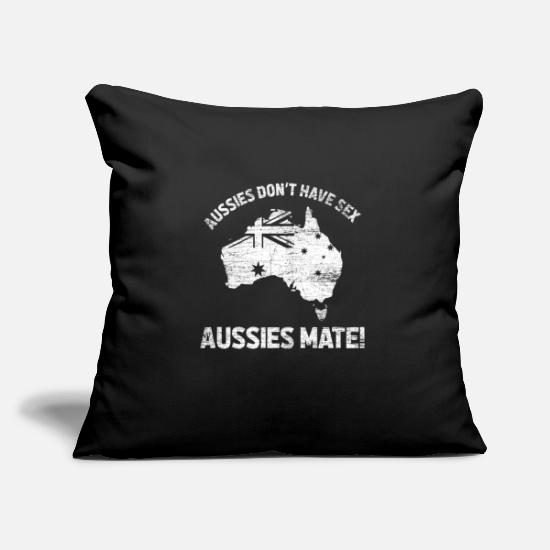 Sydney Pillow Cases - Australia Sydney Outback High School Work & Travel - Pillowcase 17,3'' x 17,3'' (45 x 45 cm) black
