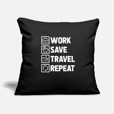 Travel to travel - Pillowcase 17,3'' x 17,3'' (45 x 45 cm)