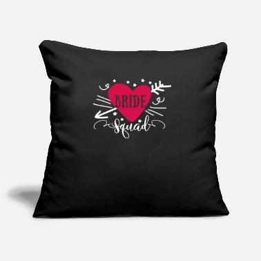 Wedding Bride Squad Heart Groups Matching wedding theme - Pillowcase 17,3'' x 17,3'' (45 x 45 cm)