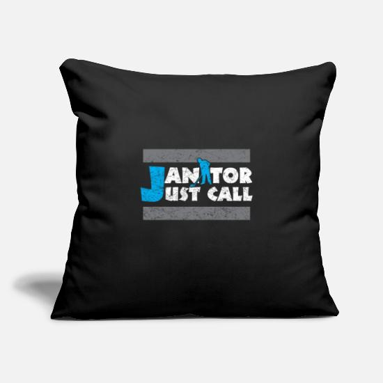 Clean Pillow Cases - Janitor job - Pillowcase 17,3'' x 17,3'' (45 x 45 cm) black