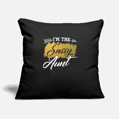Naughty Aunt Sassy Aunt godmother gift - Pillowcase 17,3'' x 17,3'' (45 x 45 cm)