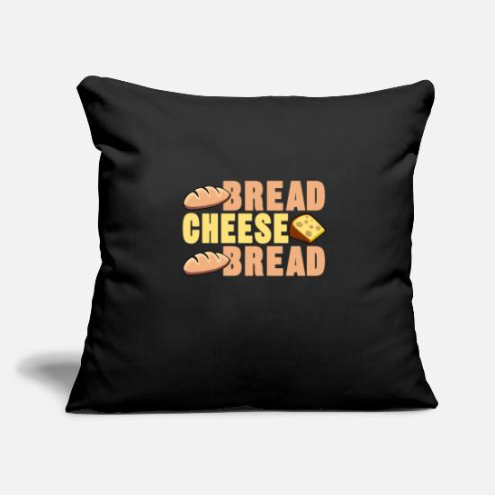 Birthday Pillow Cases - Bread Cheese Bread Shirt - Gift - Pillowcase 17,3'' x 17,3'' (45 x 45 cm) black