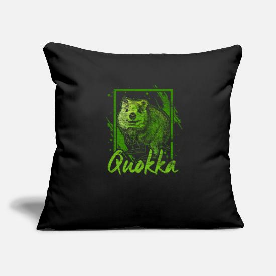 Kangaroo Pillow Cases - Quokka kangaroo marsupial Australia animal gift - Pillowcase 17,3'' x 17,3'' (45 x 45 cm) black