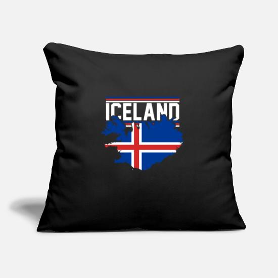 National Team Pillow Cases - Iceland World Champion - Pillowcase 17,3'' x 17,3'' (45 x 45 cm) black
