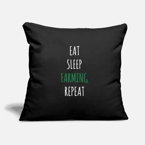 Gift Idea Pillow Cases - Farmer farmer's wife farm farmer animals gift idea - Pillowcase 17,3'' x 17,3'' (45 x 45 cm) black