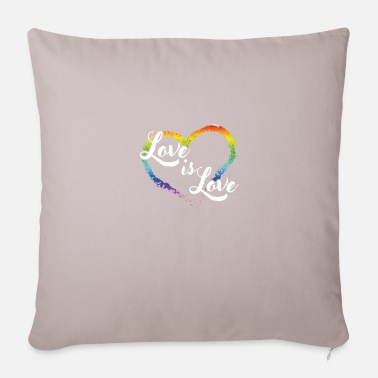 Loves Love Is Love Heart - Pillowcase 17,3'' x 17,3'' (45 x 45 cm)