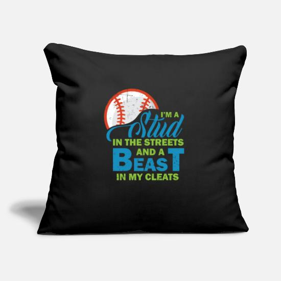 Birthday Pillow Cases - Baseball Funny Sayings Sports - Pillowcase 17,3'' x 17,3'' (45 x 45 cm) black