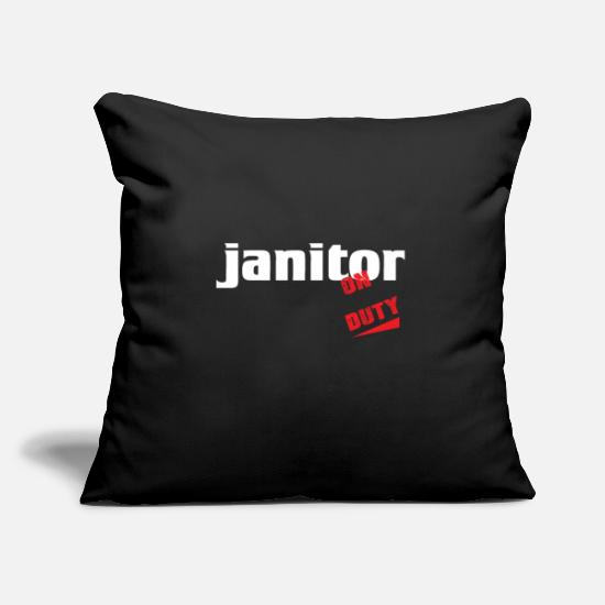 Janitor Pillow Cases - Janitor - Janitor - Repair and clean - Pillowcase 17,3'' x 17,3'' (45 x 45 cm) black
