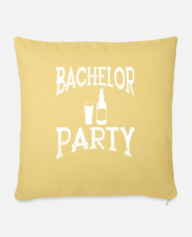 Engagement Pillow Cases - Bachelor Party Bachelor Party - Pillowcase 17,3'' x 17,3'' (45 x 45 cm) washed yellow
