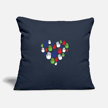 Hand Retreating Hand Heart Shape Volunteer Gift - Pillowcase 17,3'' x 17,3'' (45 x 45 cm)