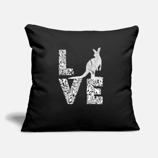 Love Pillow Cases - Kangarusx Love Australia Marsupials Gifts - Pillowcase 17,3'' x 17,3'' (45 x 45 cm) black
