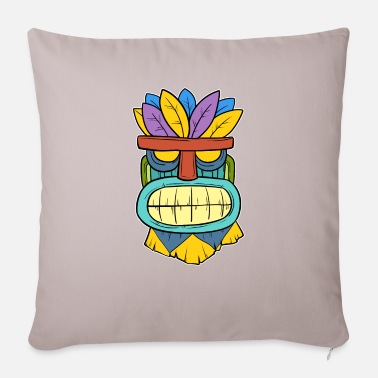 Tikki Tikki Tiki Mask Hawaiian Hawaii Gift - Pillowcase 17,3'' x 17,3'' (45 x 45 cm)