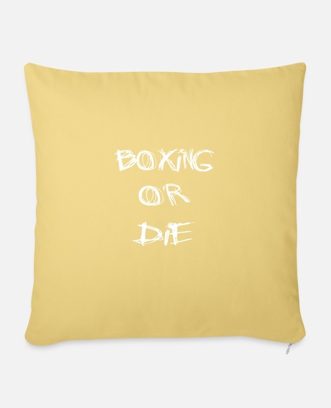Fighter Pillow Cases - boxing - Pillowcase 17,3'' x 17,3'' (45 x 45 cm) washed yellow