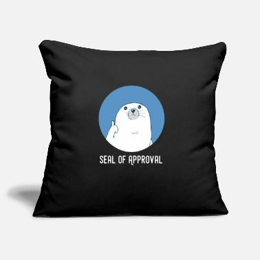 Veros Selection Seal Thumbs Up Seal of Approval Gift - Pillowcase 17,3'' x 17,3'' (45 x 45 cm)