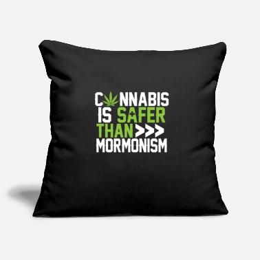 Mormon Cannabis is safer than mormonism gift - Pillowcase 17,3'' x 17,3'' (45 x 45 cm)