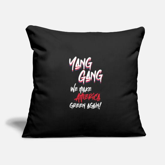 Politics Pillow Cases - Yang Gang - Pillowcase 17,3'' x 17,3'' (45 x 45 cm) black